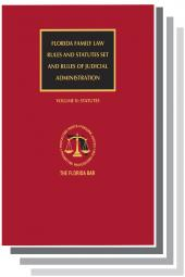 Florida Family Law Set (Rules and Statutes), 2017 Edition cover
