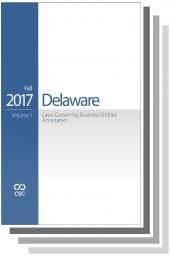 CSC® Delaware Laws Governing Business Entities Annotated, Volumes 1 & 2 cover