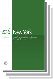 CSC® New York Laws Governing Business Entities, Fall 2016 Edition cover