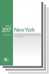 CSC® New York Laws Governing Business Entities cover
