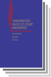 Washington Rules of Court Annotated (State and Federal Rules) cover