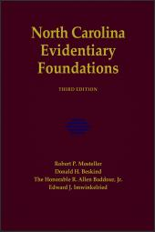 North Carolina Evidentiary Foundations, Third Edition cover
