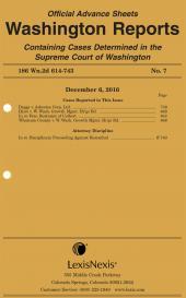 Washington Reports Advance Sheets cover