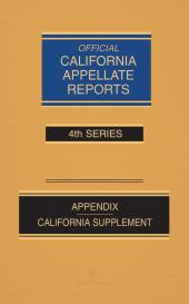 California Official Reports Appellate Bound Volume cover