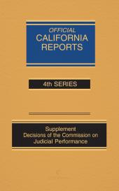 California Official Reports Appellate and Supreme Court Bound Volumes cover