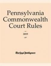 Pennsylvania Commonwealth Court Rules cover