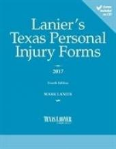 Lanier's Texas Personal Injury Forms cover
