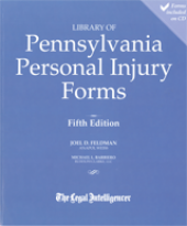 Library of Pennsylvania Personal Injury Forms cover