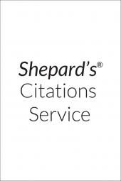Shepard's New Jersey Citations (Supplemented Twice a Month) All Inclusive Subscription cover