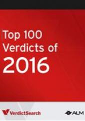 VerdictSearch Top 100 Verdicts of 2016 cover