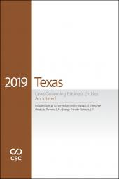 CSC® Texas Laws Governing Business Entities cover