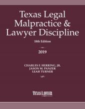 Texas Legal Malpractice & Lawyer Discipline cover