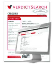 The Carolina Verdict Reporter cover