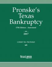 Pronske's Texas Bankruptcy cover