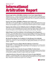 Mealey S International Arbitration Report Lexisnexis Store