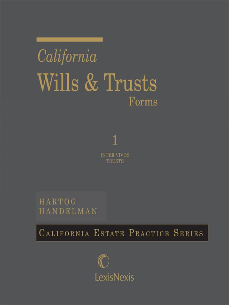 California Wills And Trusts Forms