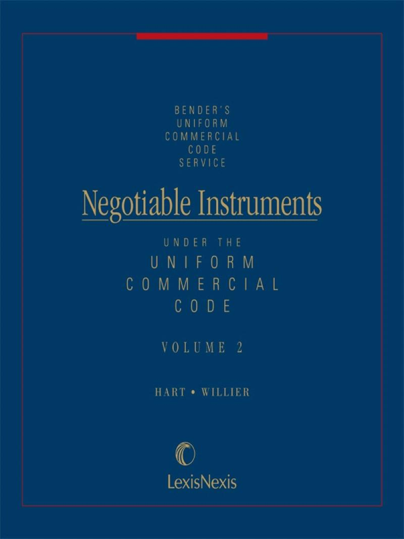 Negotiable Instruments Under The Ucc Lexisnexis Store