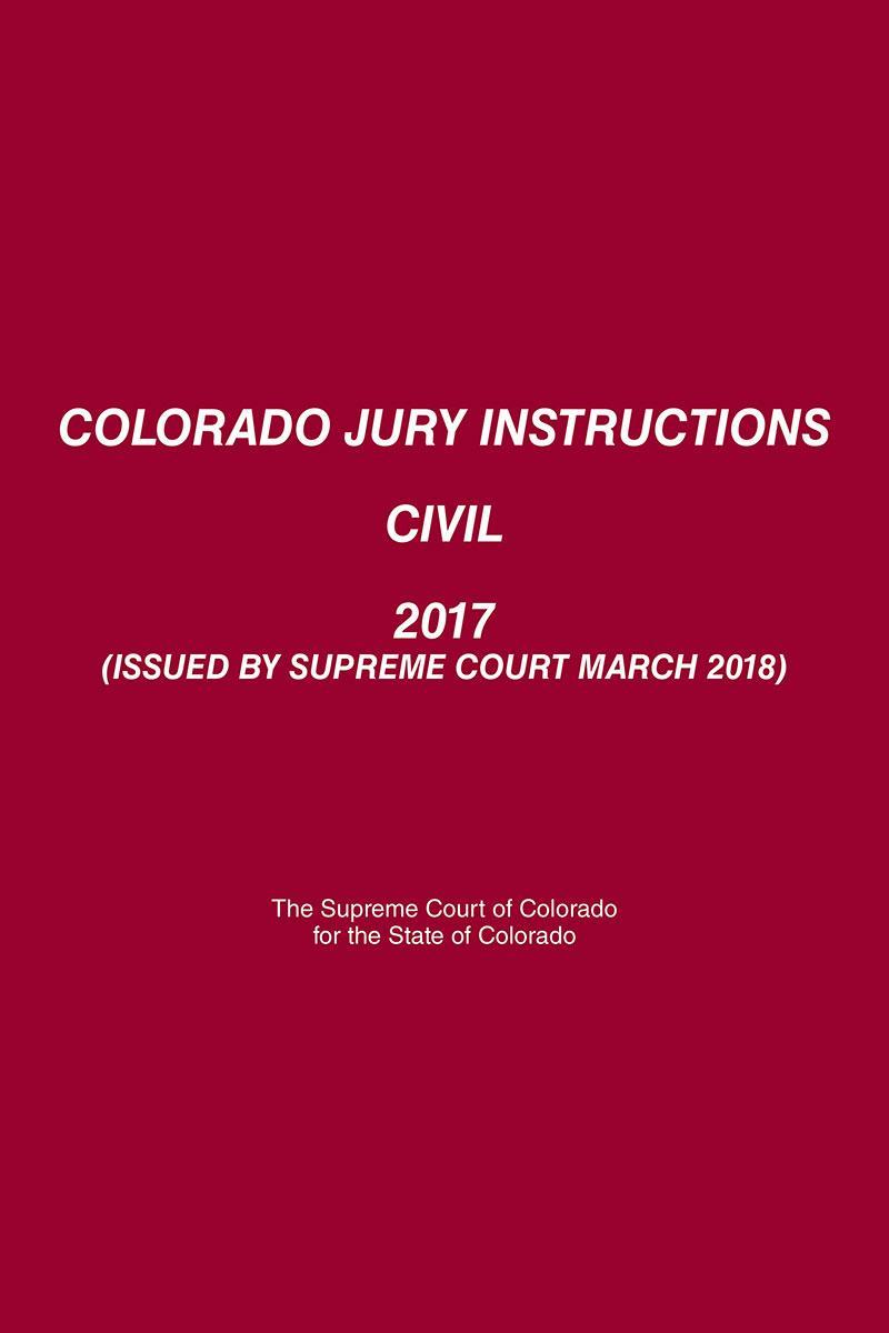 Colorado Jury Instructions Civil Lexisnexis Store