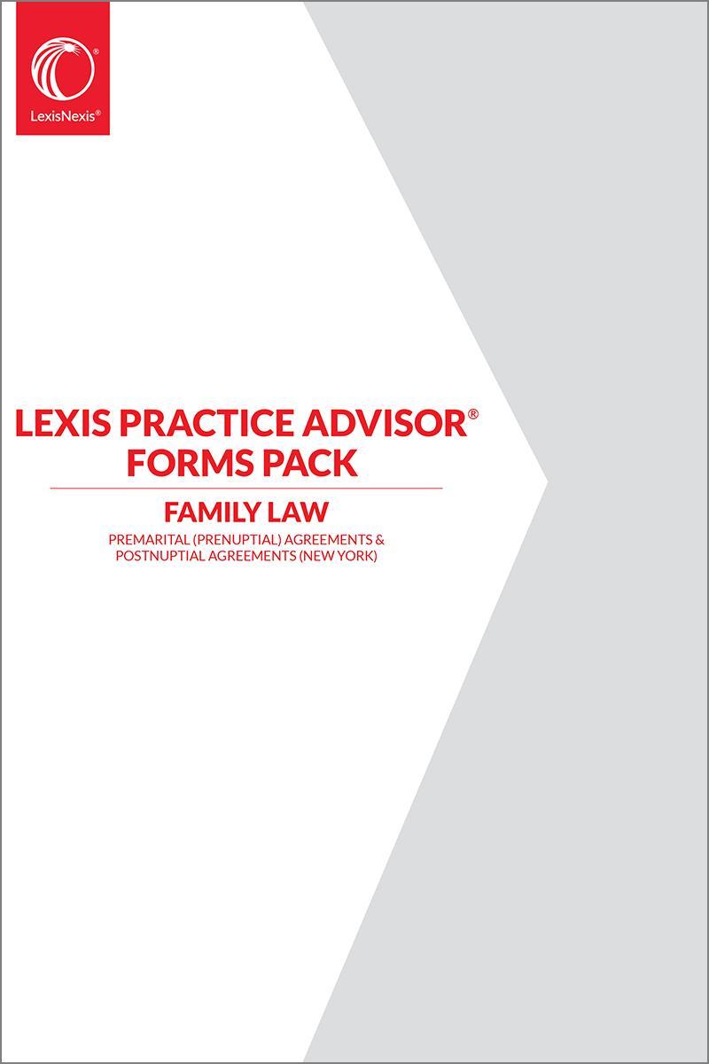 Lexis Practice Advisor Forms Pack Premarital Prenuptial