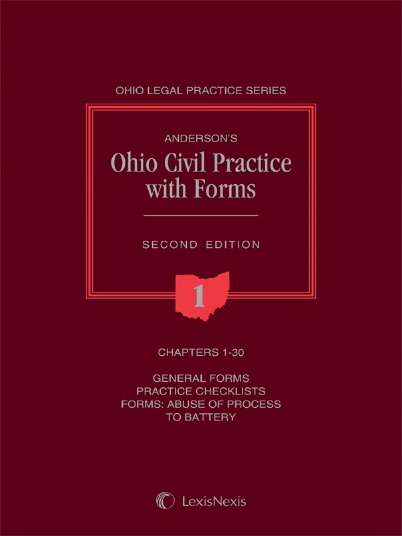 Andersons Ohio Civil Practice With Forms LexisNexis Store - Ohio legal forms