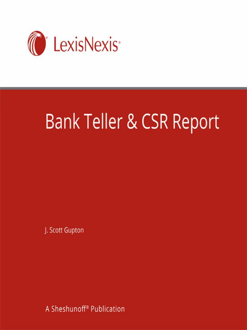 bank teller csr report lexisnexis store