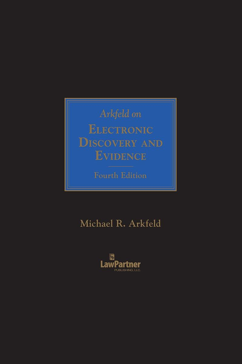 Litigation Hold Letter Sample.Arkfeld On Electronic Discovery And Evidence Lexisnexis Store