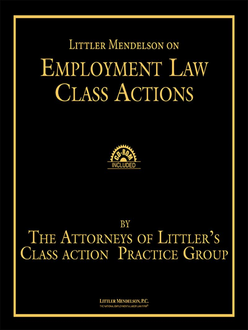 Legal looseleafs in print 2014 array littler mendelson on employment law class actions lexisnexis store rh store lexisnexis com fandeluxe Images