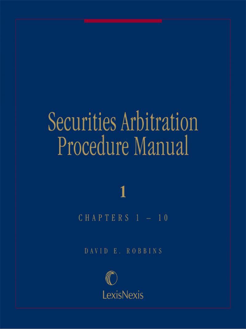 Securities arbitration procedure manual lexisnexis store fandeluxe Images
