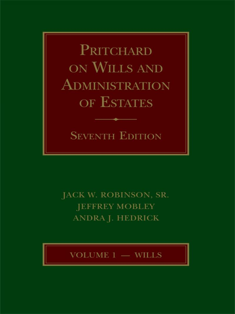 pritchard on the law of wills and administration of estates