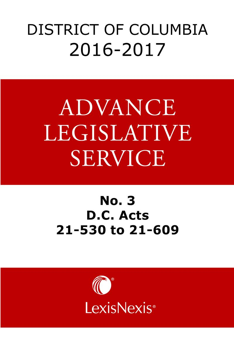 district of columbia lexis advance legislative service publisher lexisnexis