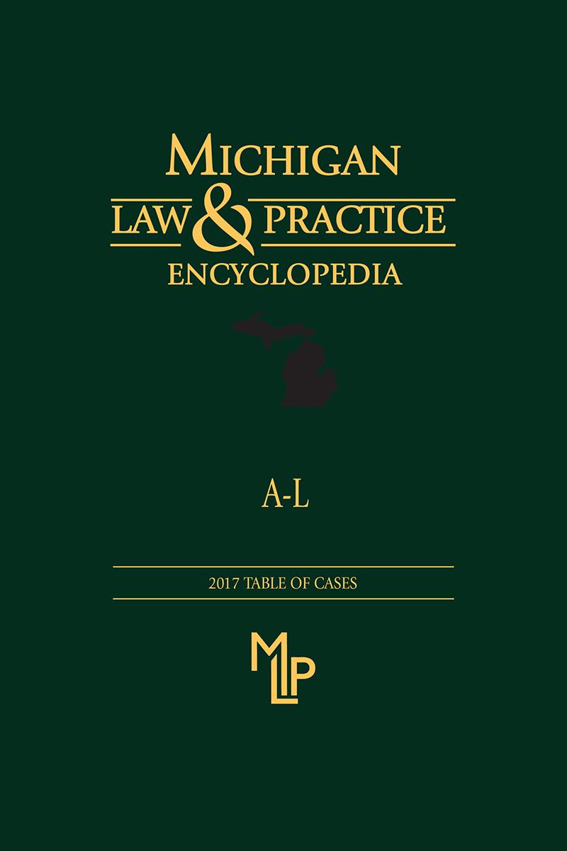 Michigan Law And Practice Encyclopedia Lexisnexis Store