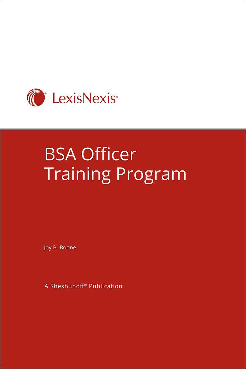 BSA Officer Training Program | LexisNexis Store