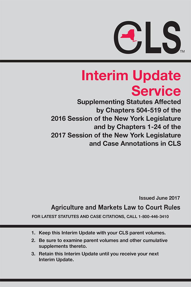 new york consolidated laws cls interim supplement service