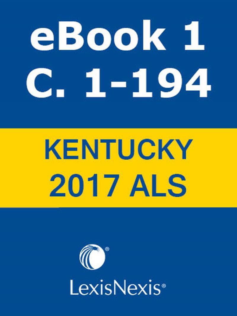 kentucky revised statutes advance legislative service