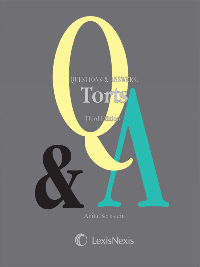 questions answers torts third edition lexisnexis store view a sample of this title using the readnow feature
