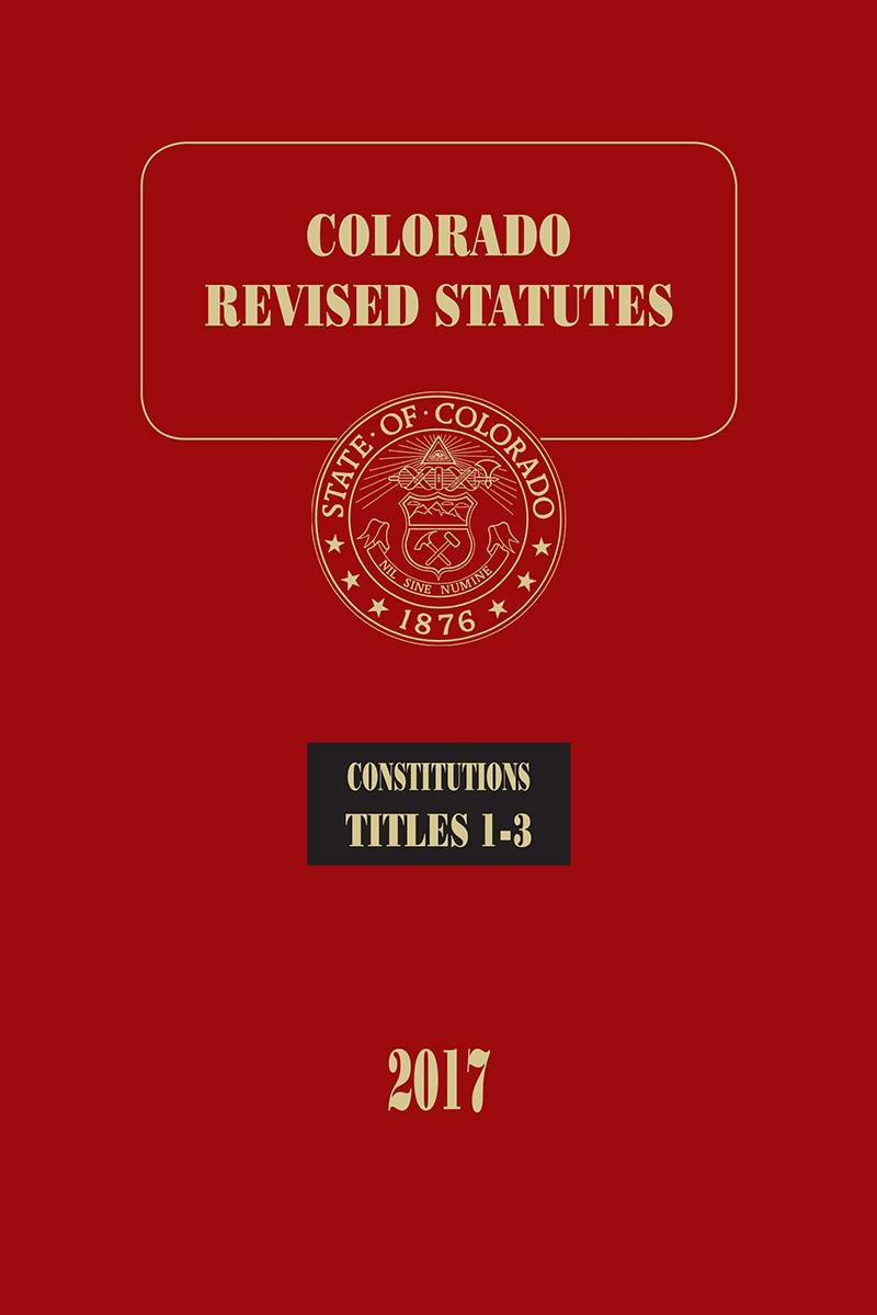 Colorado Revised Statutes