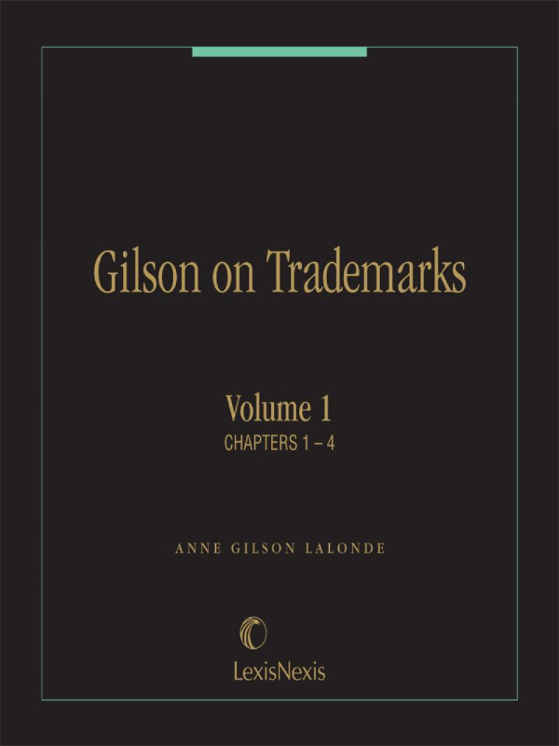Gilson on Trademarks LexisNexis Store