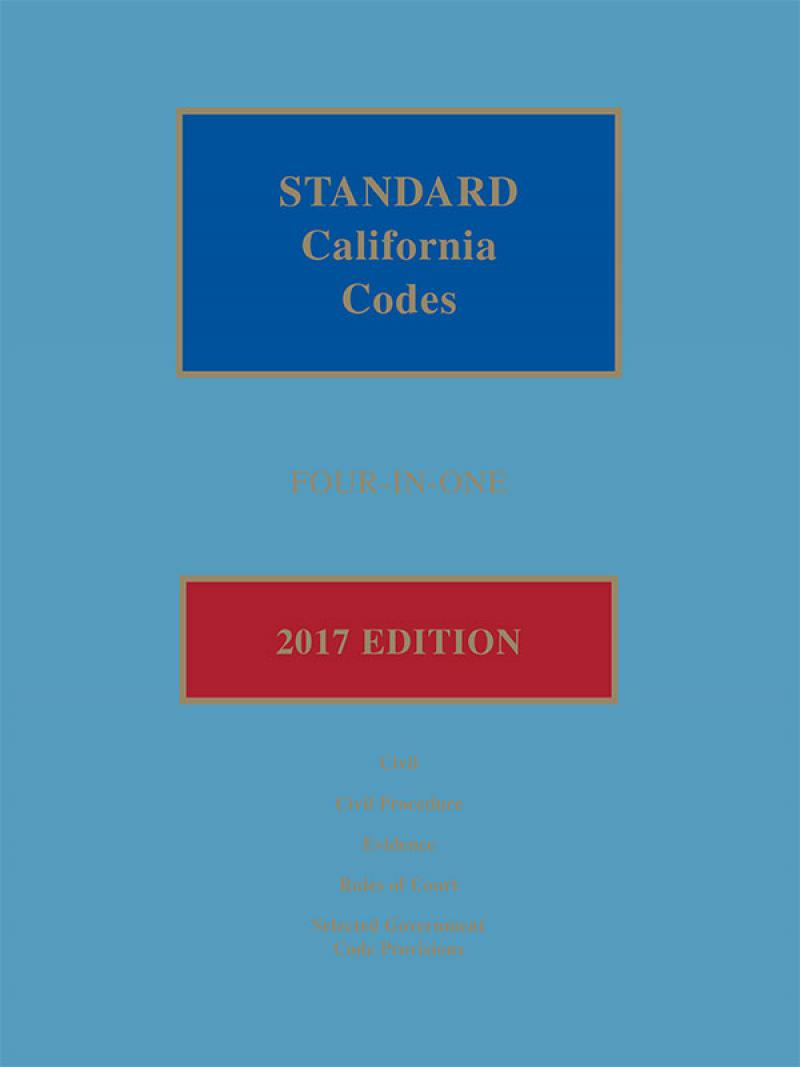 Standard California Codes: 4-in-1, 2017 Edition