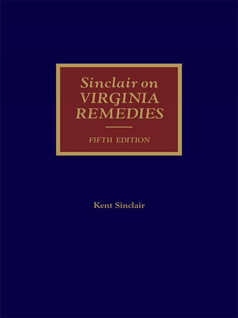 6ffd3285ce19 Sinclair on Virginia Remedies | LexisNexis Store