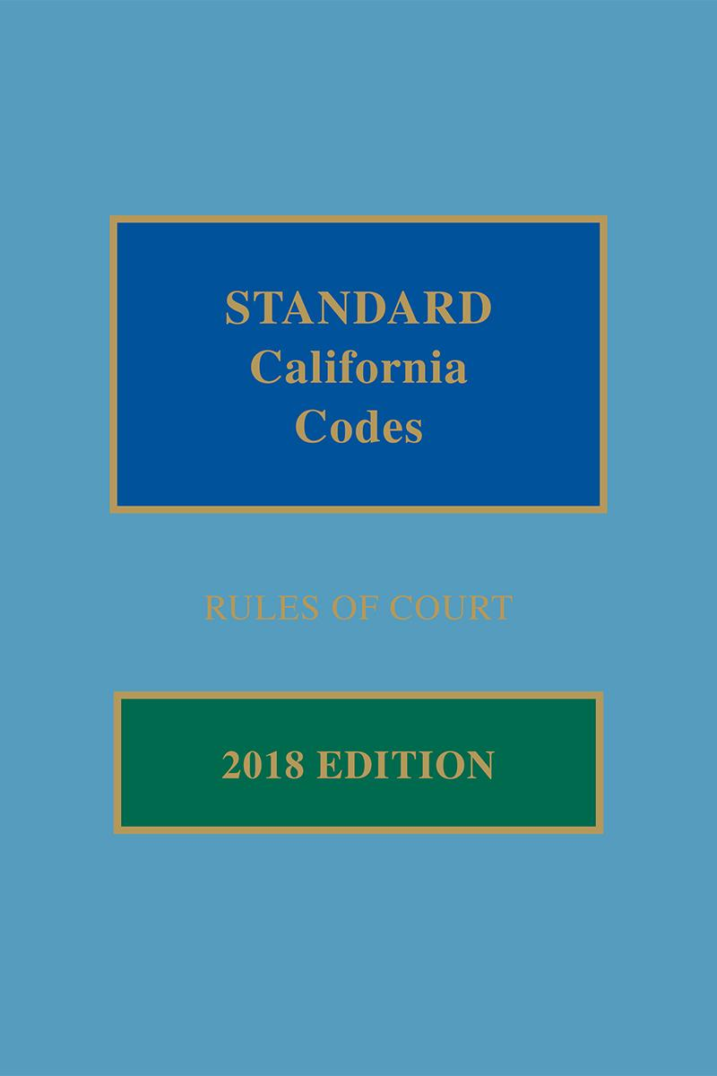 Standard California Codes: Rules of Court | LexisNexis Store