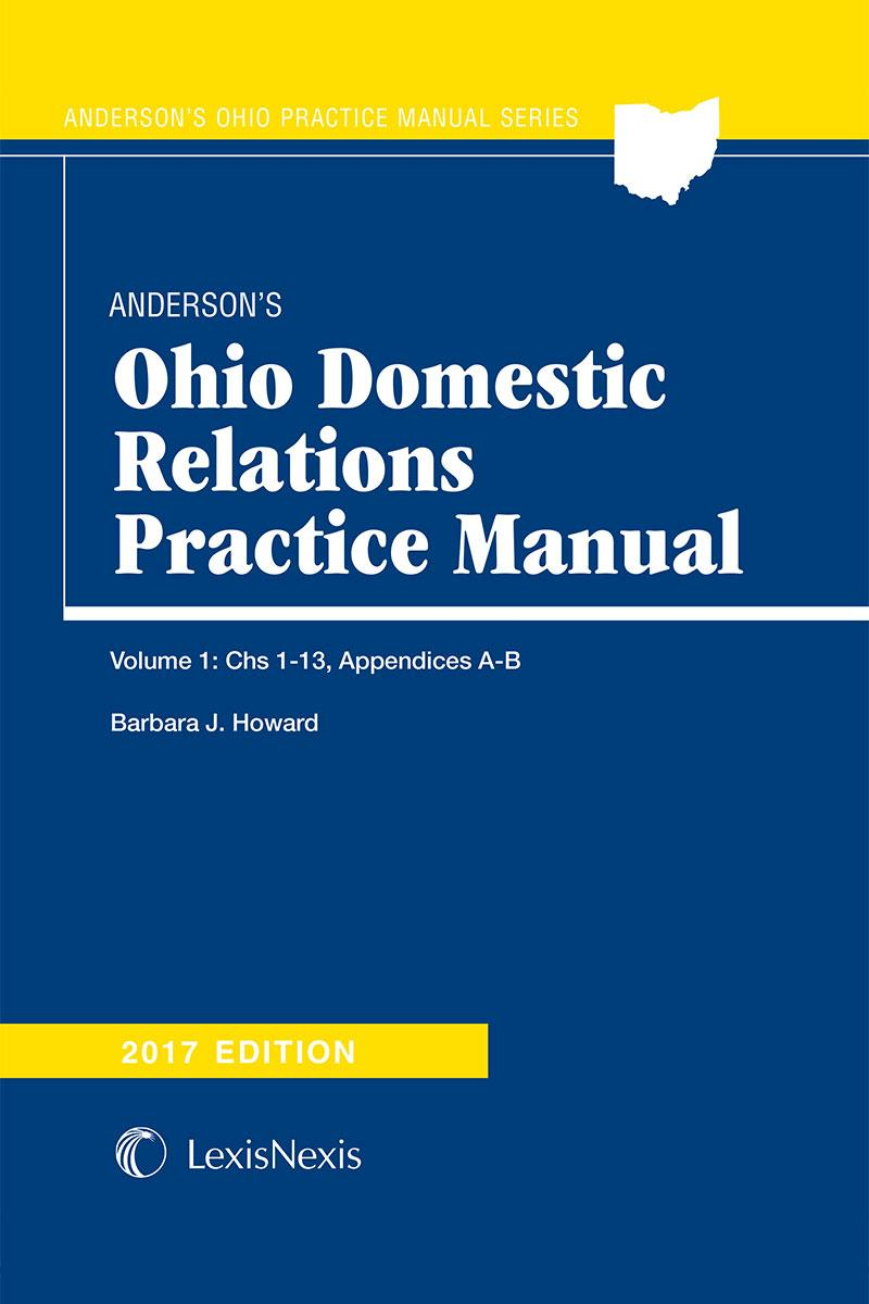 Andersons Ohio Domestic Relations Practice Manual Lexisnexis Store