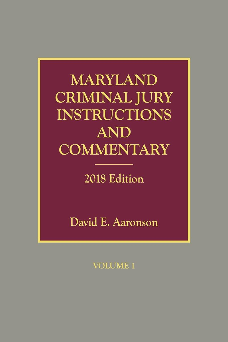 Maryland Criminal Jury Instructions And Commentary Lexisnexis Store