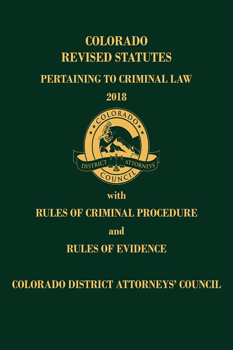 colorado revised statutes pertaining to criminal law