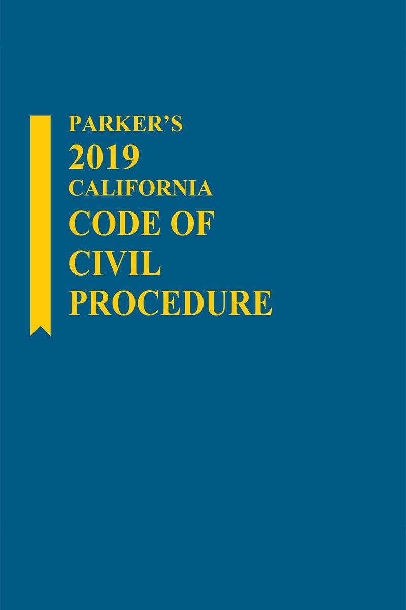 Parker S California Code Of Civil Procedure Lexisnexis Store