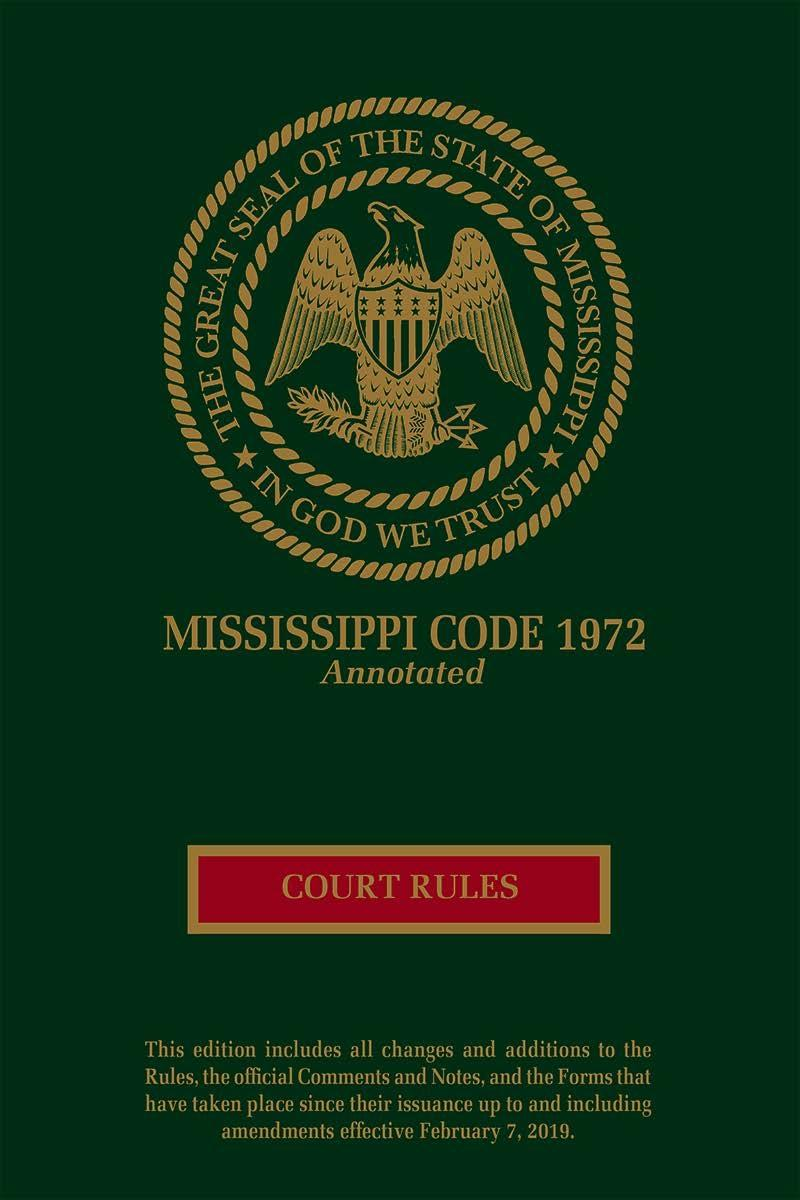 Mississippi Rules Of Civil Procedure >> Mississippi Court Rules Annotated Lexisnexis Store