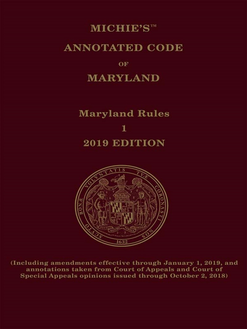 Maryland Court Rules Annotated | LexisNexis Store