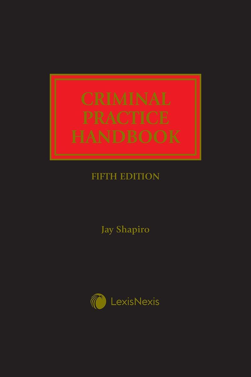 Criminal Practice Handbook   LexisNexis Store