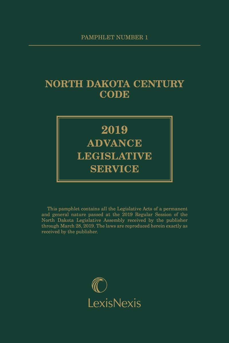 North Dakota Century Code Advance Legislative Service | LexisNexis Store