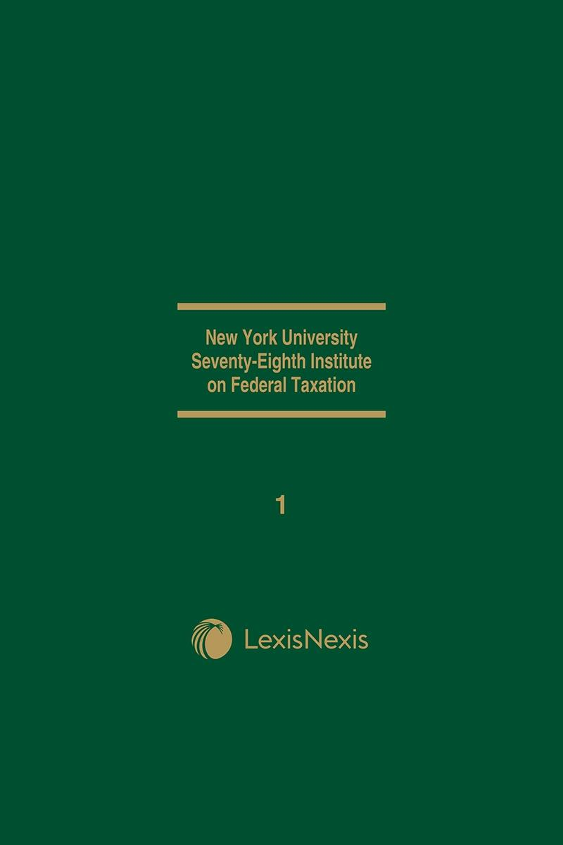 New York University 78th Institute on Federal Taxation