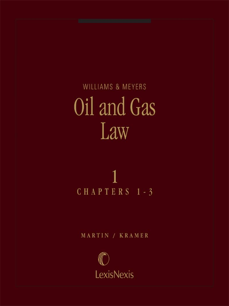 Williams & Meyers, Oil and Gas Law cover